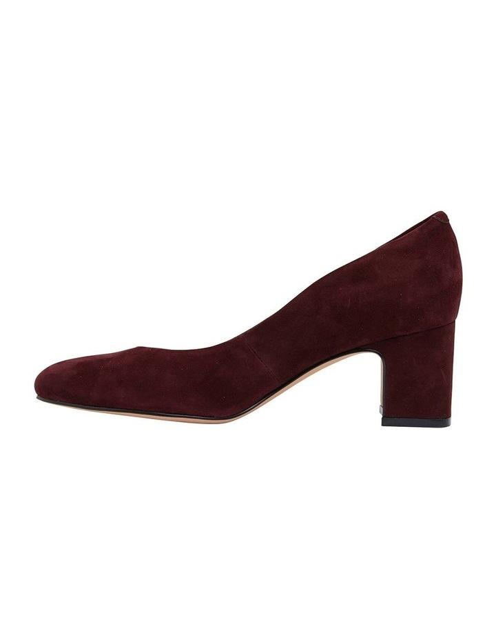 Joyce Burgundy Suede Heeled Shoes image 3