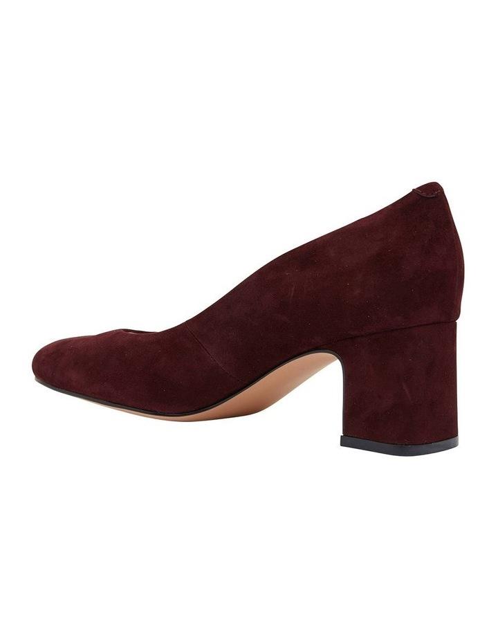 Joyce Burgundy Suede Heeled Shoes image 4