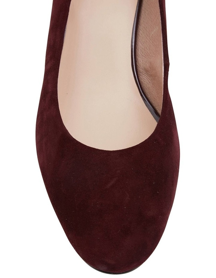 Joyce Burgundy Suede Heeled Shoes image 5