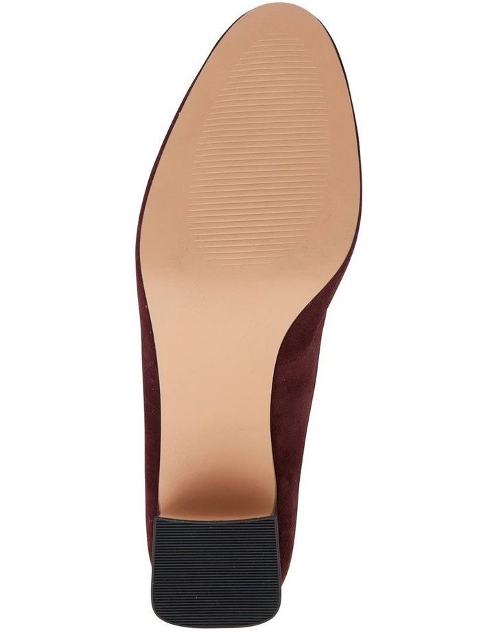 Joyce Burgundy Suede Heeled Shoes image 7