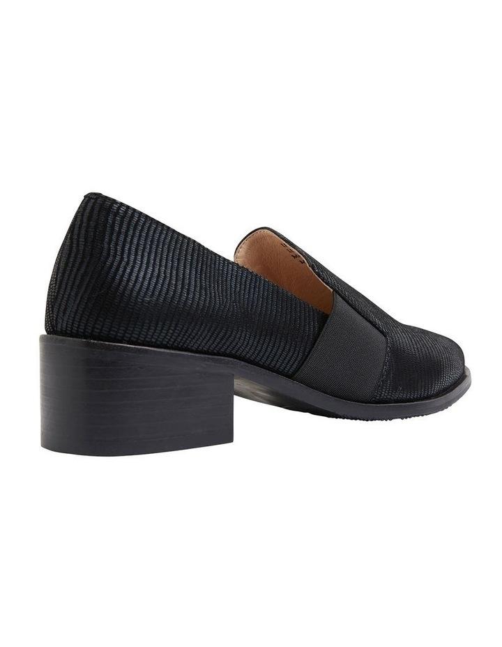 Exact Black Lizard Flat Shoes image 3