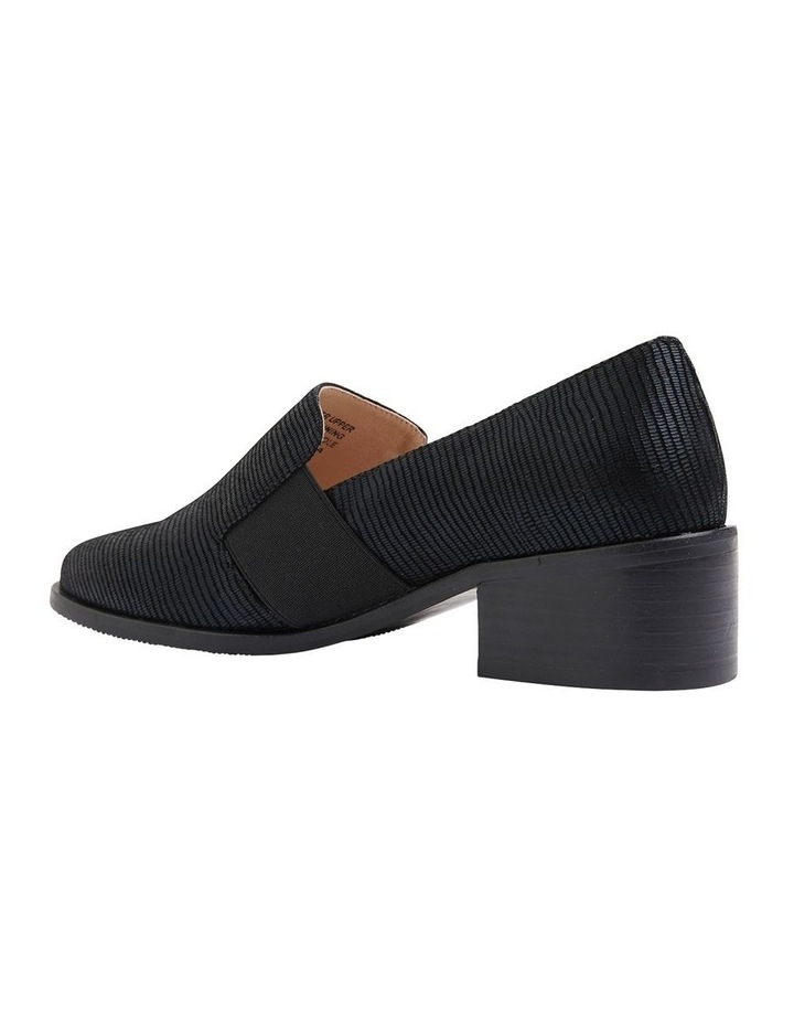 Exact Black Lizard Flat Shoes image 5