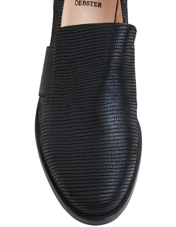 Exact Black Lizard Flat Shoes image 6