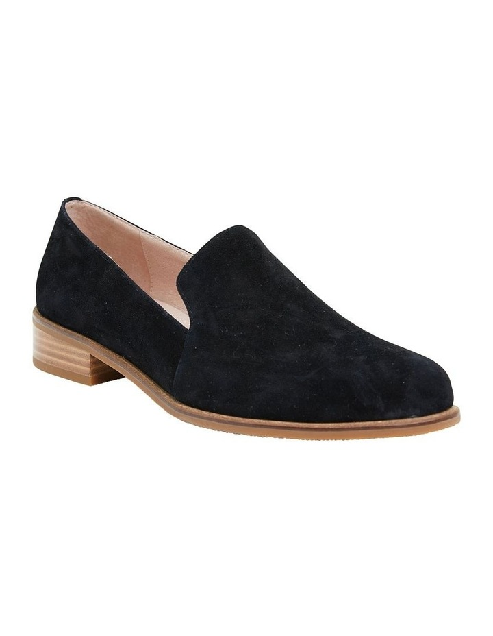 Everest Black Suede Flat Shoes image 2