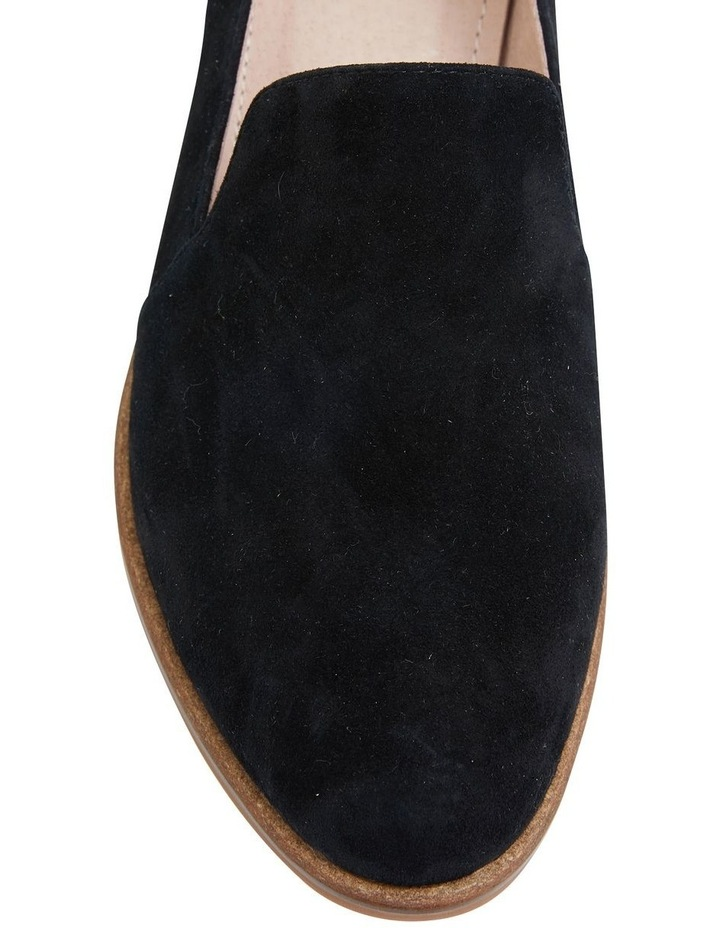Everest Black Suede Flat Shoes image 6