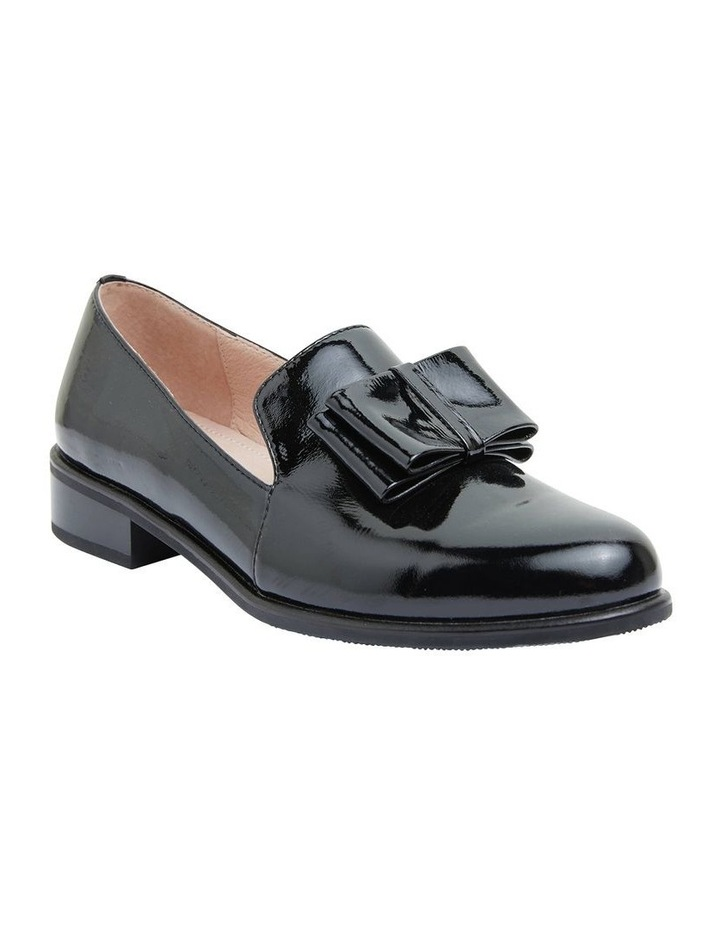 Jarvis Black Patent Flat Shoes image 2