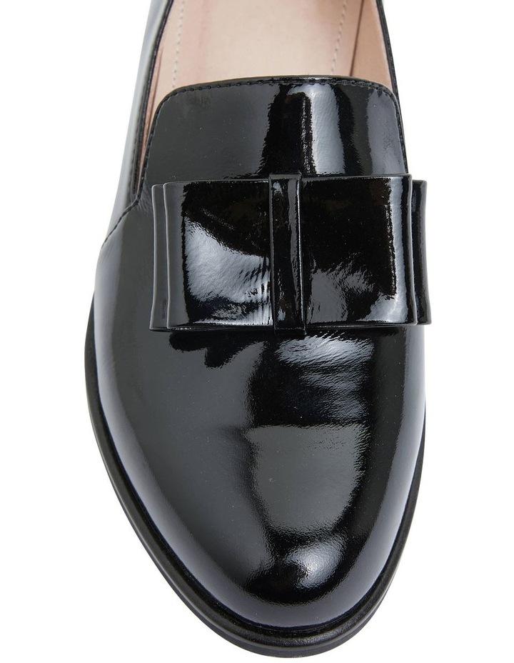 Jarvis Black Patent Flat Shoes image 6