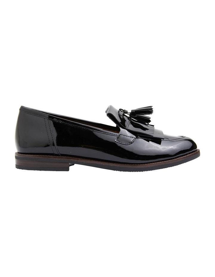 Wade Black Patent Flat Shoes image 1