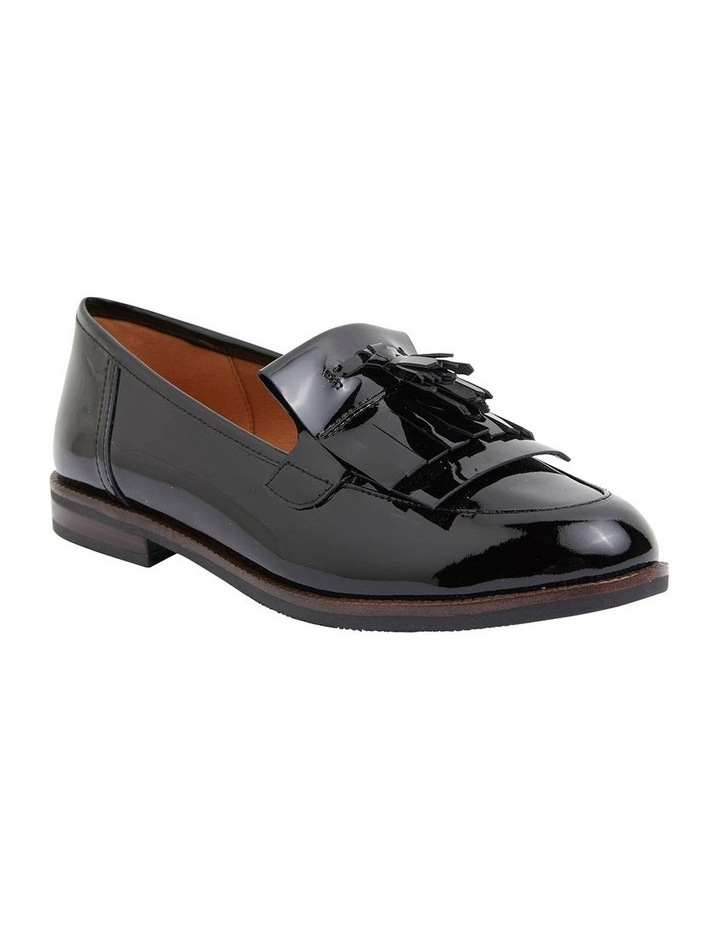 Wade Black Patent Flat Shoes image 2