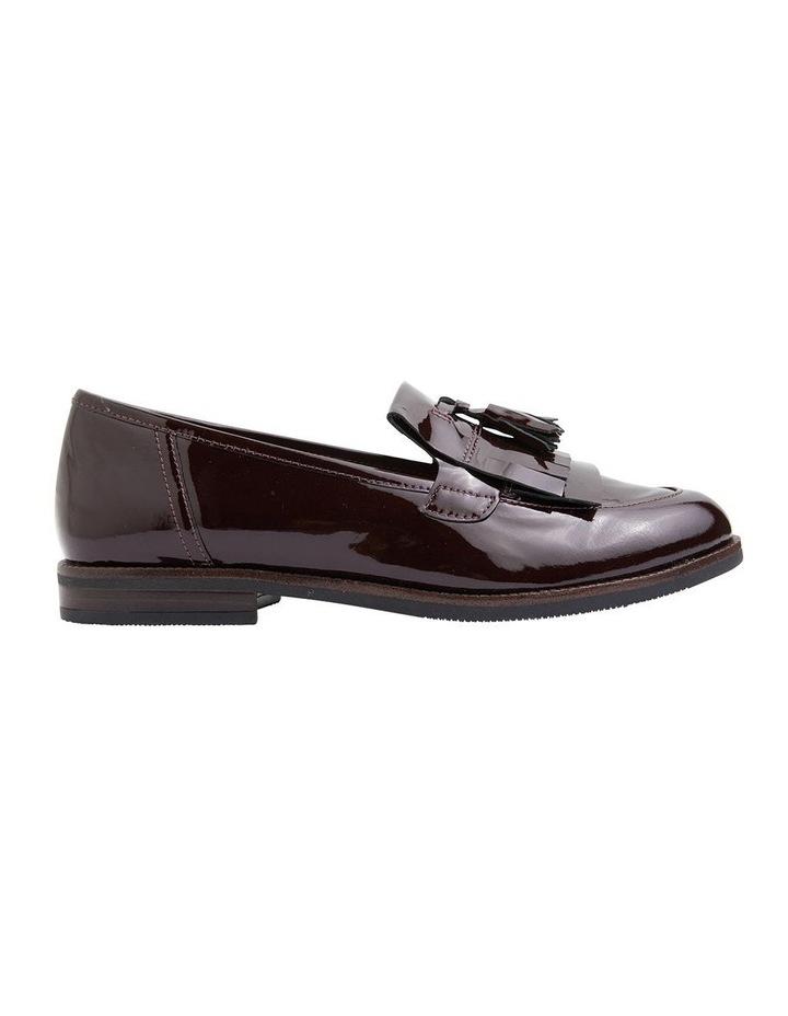 Wade Burgundy Patent Flat Shoes image 1