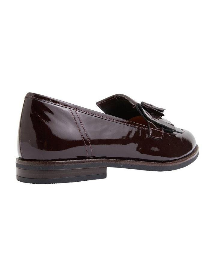 Wade Burgundy Patent Flat Shoes image 3
