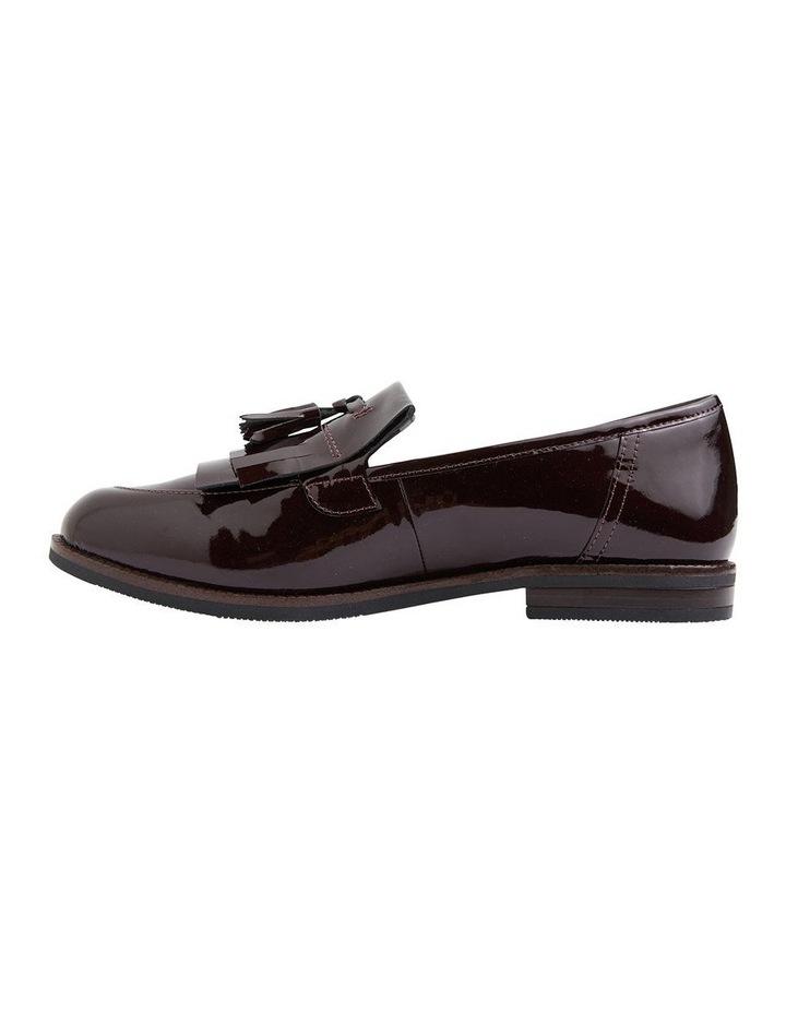 Wade Burgundy Patent Flat Shoes image 4