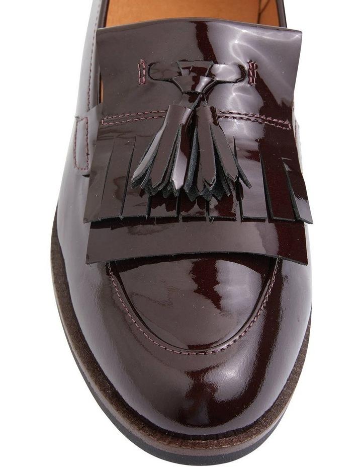 Wade Burgundy Patent Flat Shoes image 5