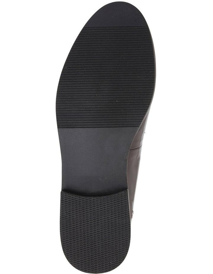 Wade Burgundy Patent Flat Shoes image 6