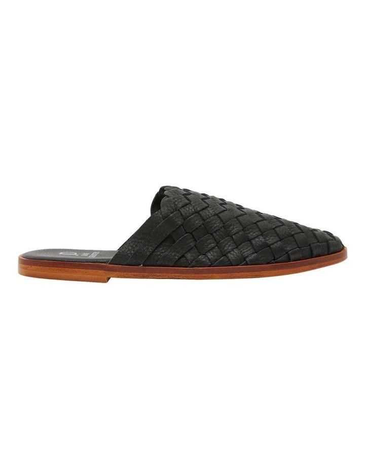 Watson Black Weave Flat Shoes image 1