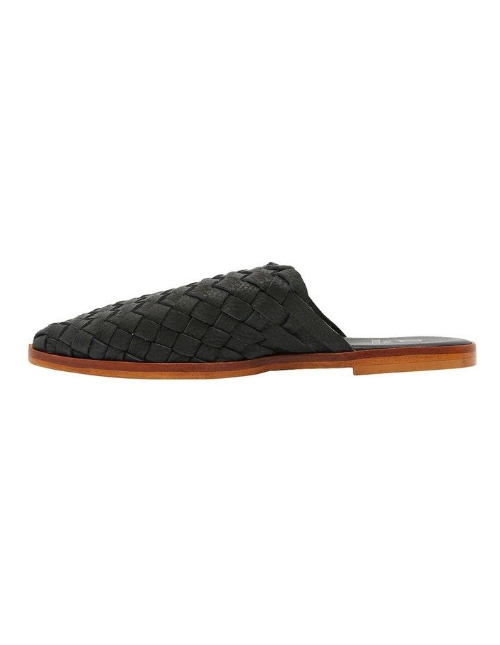 Watson Black Weave Flat Shoes image 3