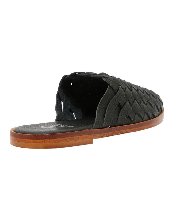 Watson Black Weave Flat Shoes image 4