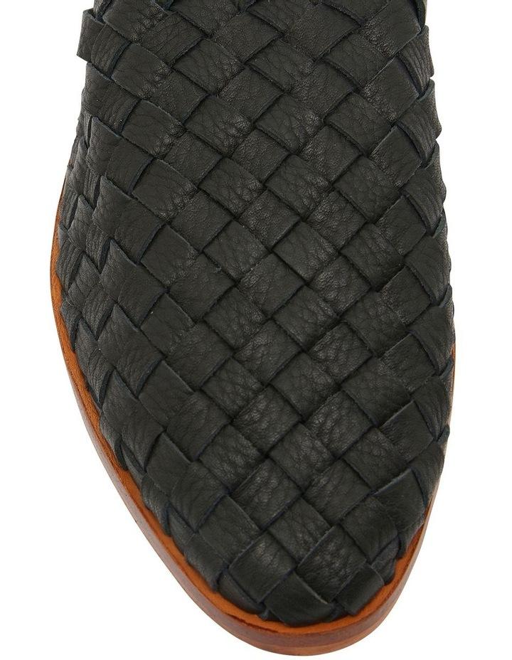 Watson Black Weave Flat Shoes image 6