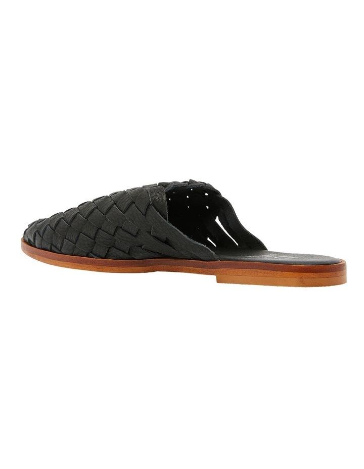 Watson Black Weave Flat Shoes image 7