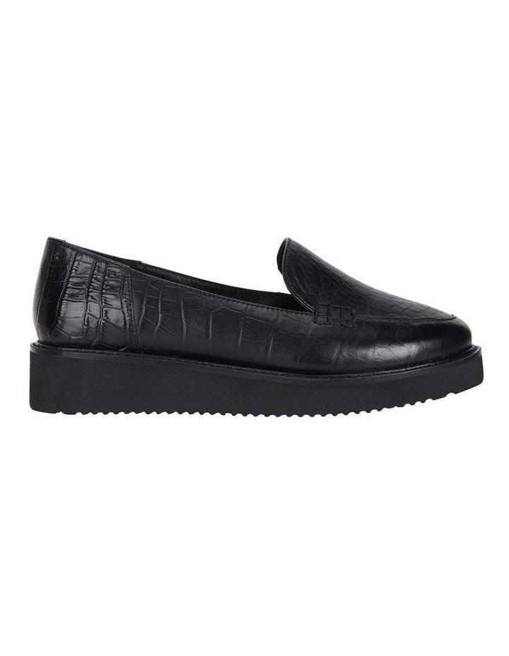 Jane Debster Vista Black Croc Flatform Loafer image 1