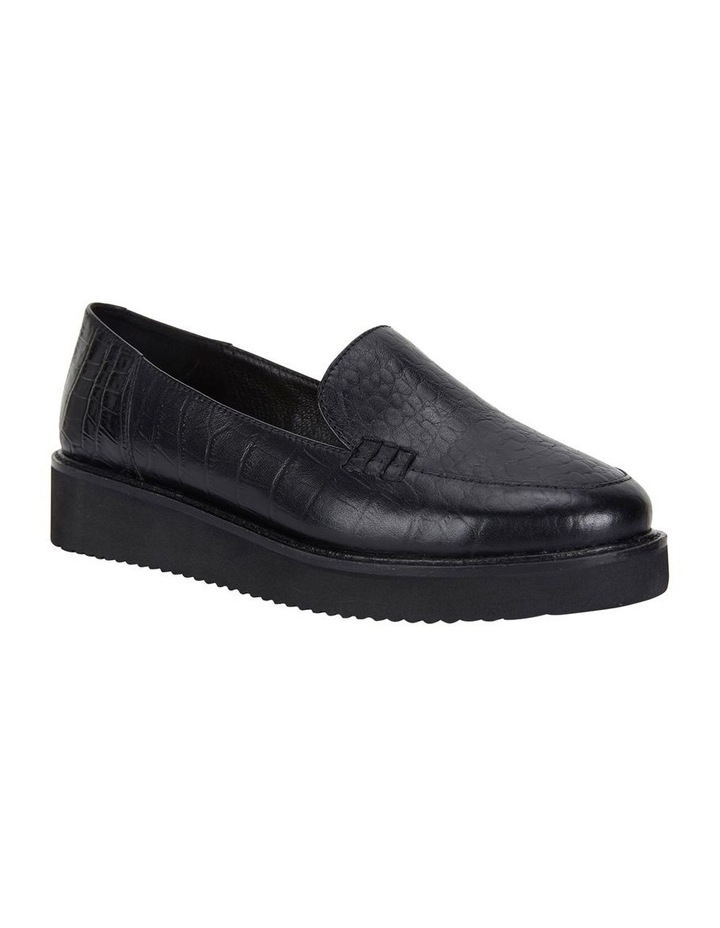 Jane Debster Vista Black Croc Flatform Loafer image 2
