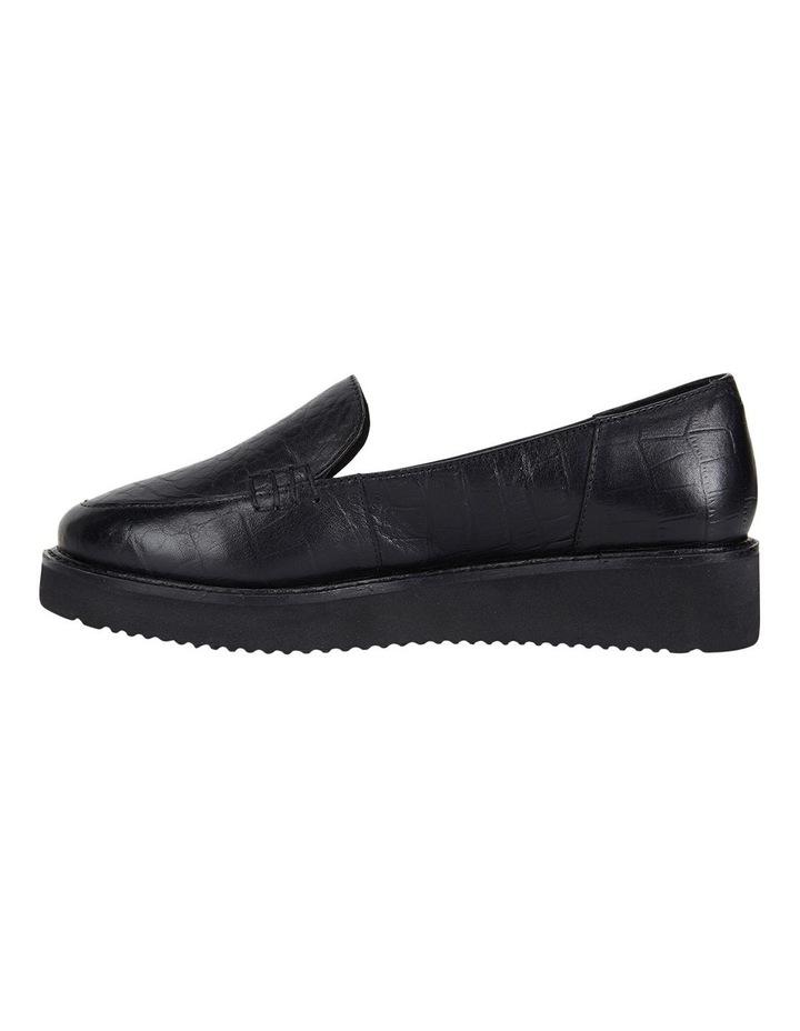 Jane Debster Vista Black Croc Flatform Loafer image 3