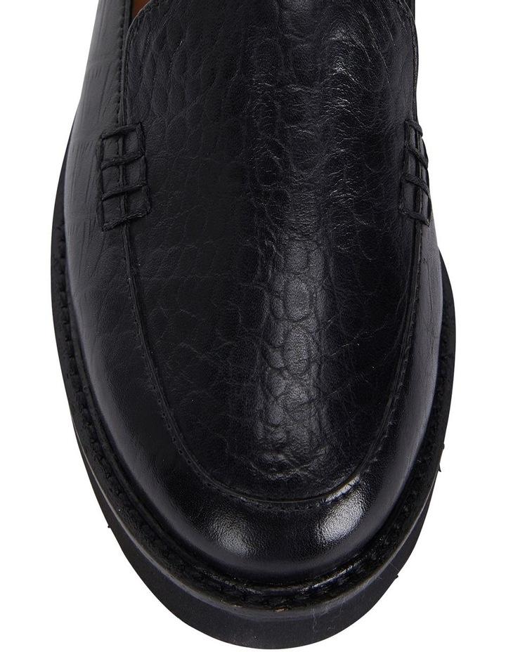 Jane Debster Vista Black Croc Flatform Loafer image 7