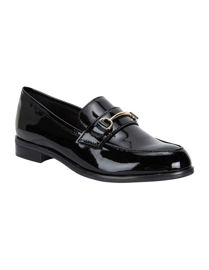 WALLIS Black Patent Flat Shoe image 2