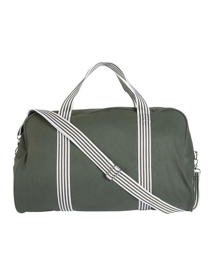 RAVELLA Duffle Khaki/White Bag image 1