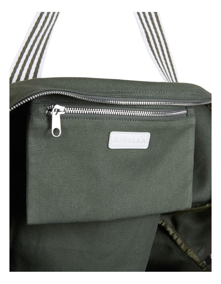 RAVELLA Duffle Khaki/White Bag image 5