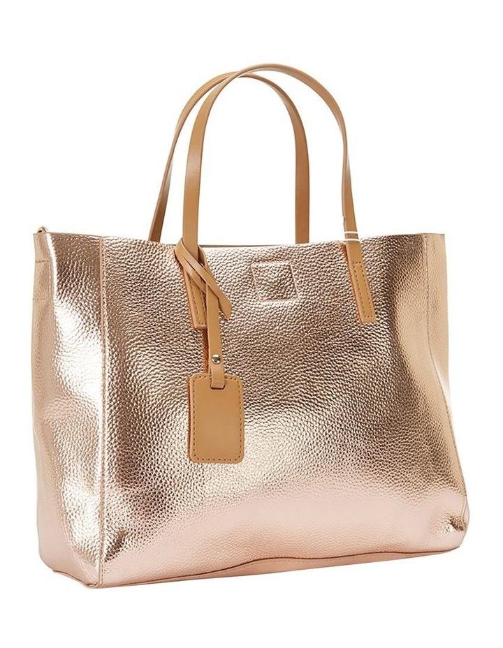 SANDLER Billi Rose Gold Metallic Tote Bag image 1