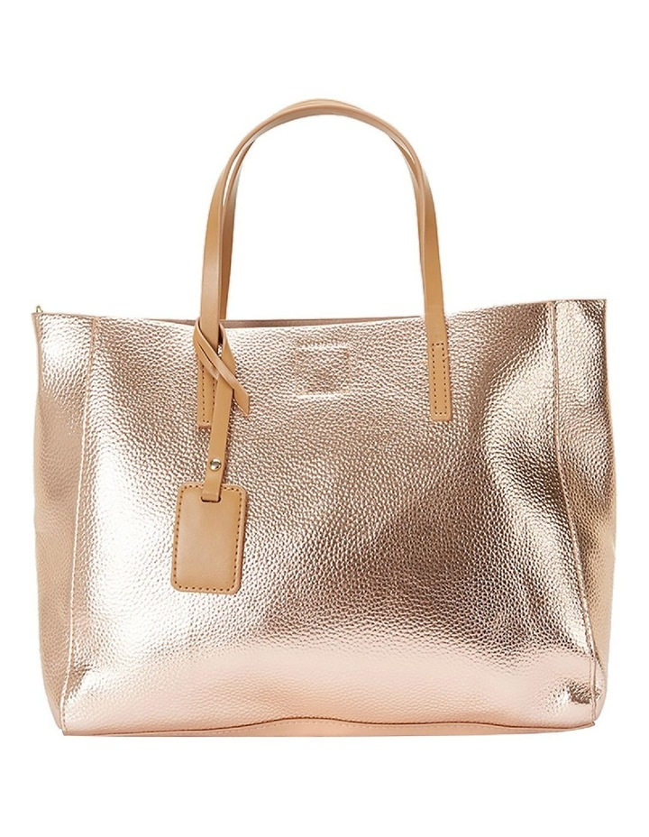 SANDLER Billi Rose Gold Metallic Tote Bag image 2