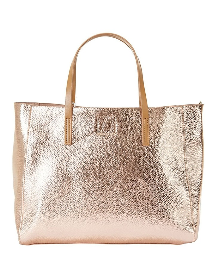 SANDLER Billi Rose Gold Metallic Tote Bag image 3