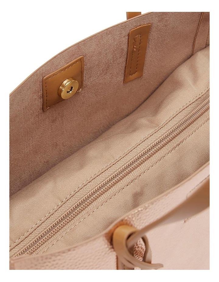 SANDLER Billi Rose Gold Metallic Tote Bag image 4