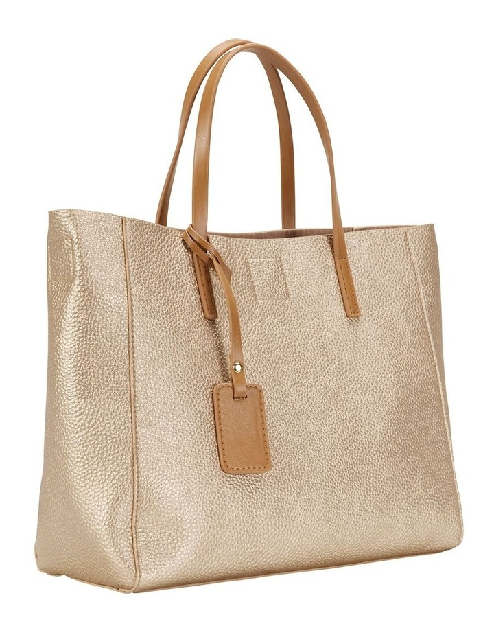 SANDLER Billi Soft Gold Metallic Tote Bag image 3