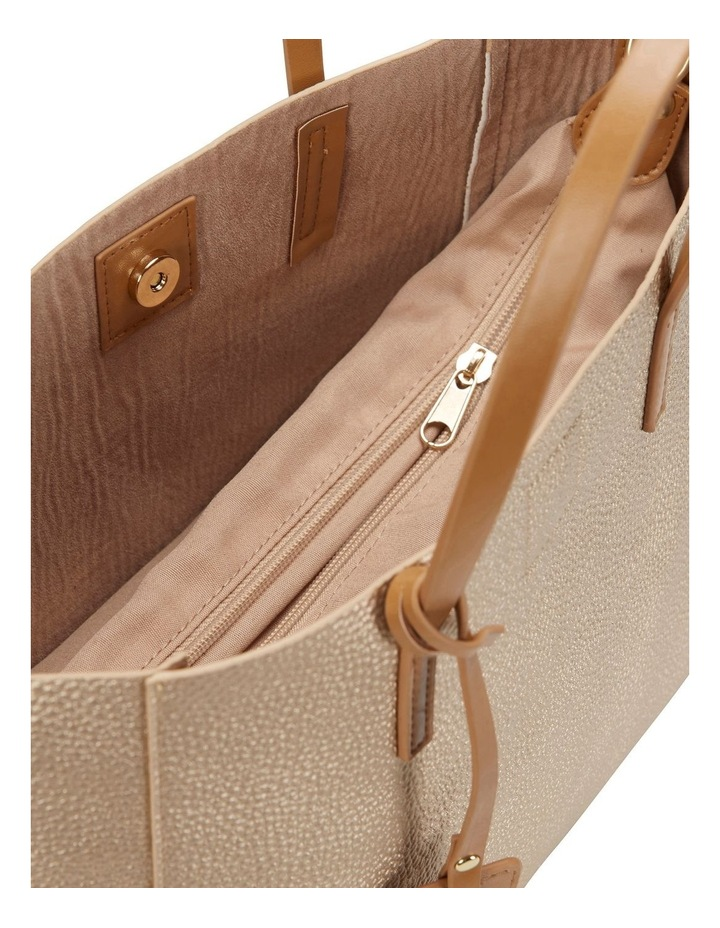 SANDLER Billi Soft Gold Metallic Tote Bag image 4