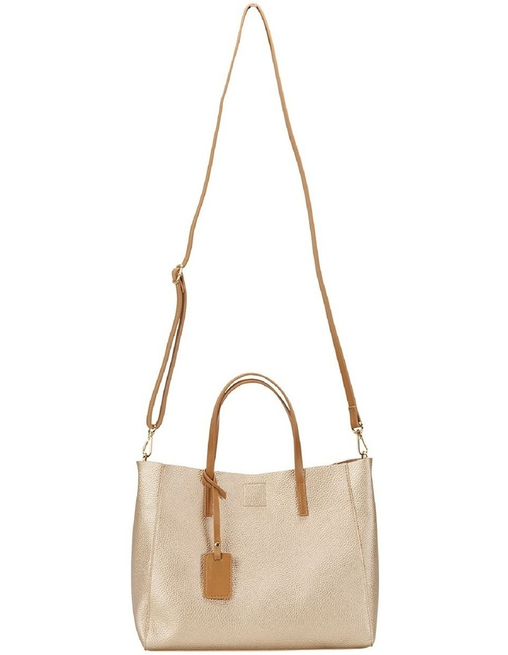 SANDLER Billi Soft Gold Metallic Tote Bag image 5