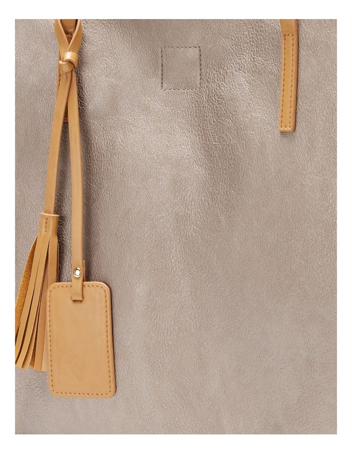 SANDLER Bobbi Pewter Tote Bag image 5