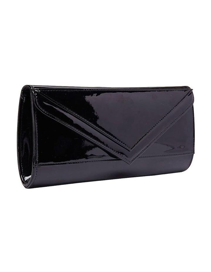 SANDLER Paige Black Patent Clutch Bag image 1