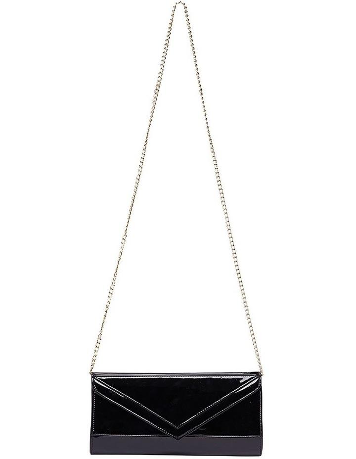 SANDLER Paige Black Patent Clutch Bag image 2