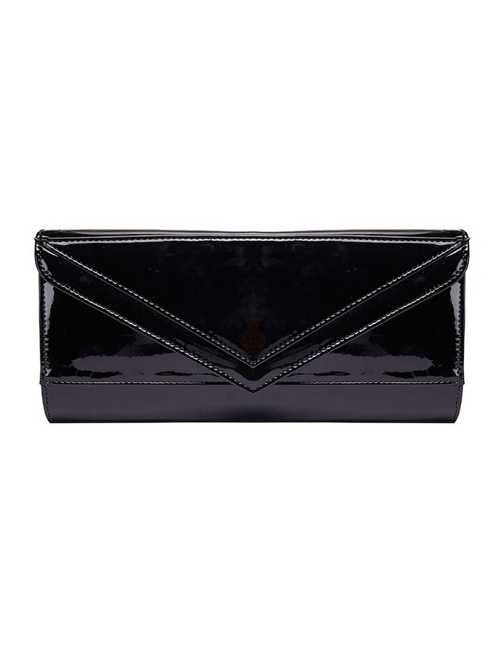 SANDLER Paige Black Patent Clutch Bag image 3