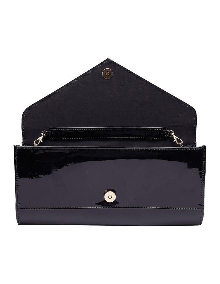 SANDLER Paige Black Patent Clutch Bag image 5