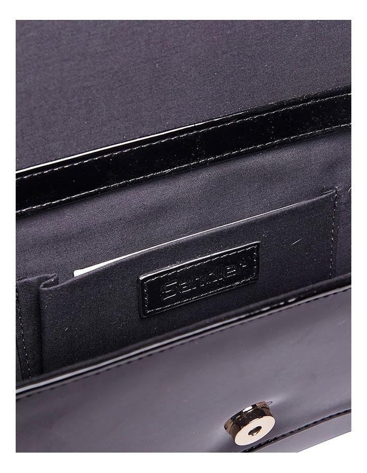 SANDLER Paige Black Patent Clutch Bag image 6