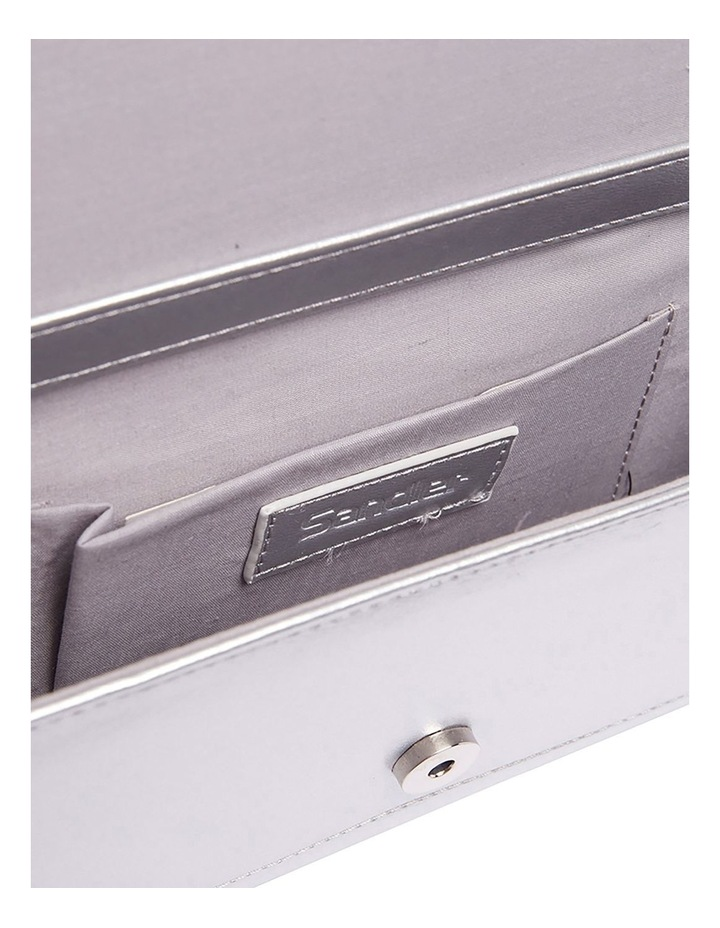 SANDLER Paige Silver Clutch Bag image 6