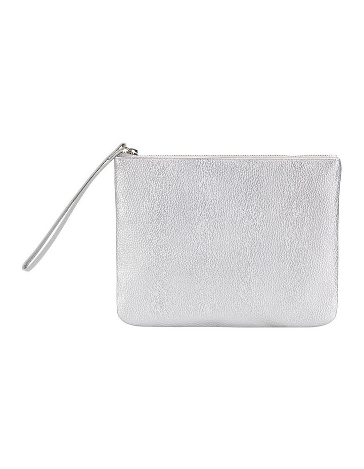 SANDLER Lexi Bright Silver Clutch Bag image 1