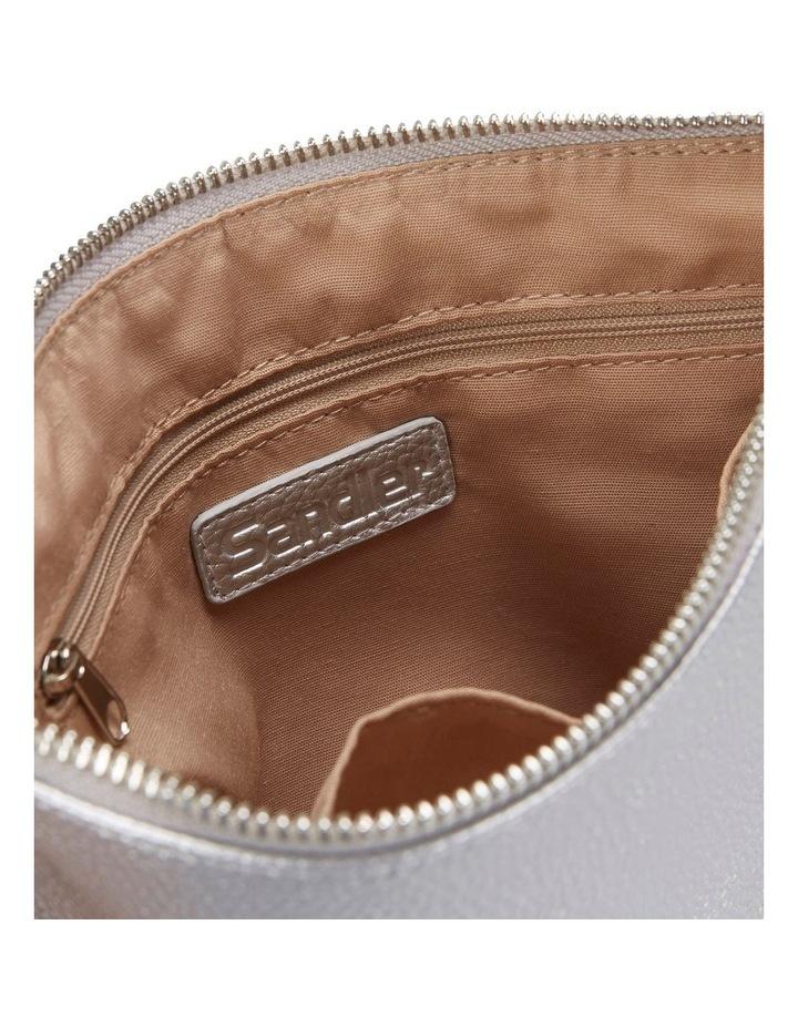 SANDLER Lexi Bright Silver Clutch Bag image 2