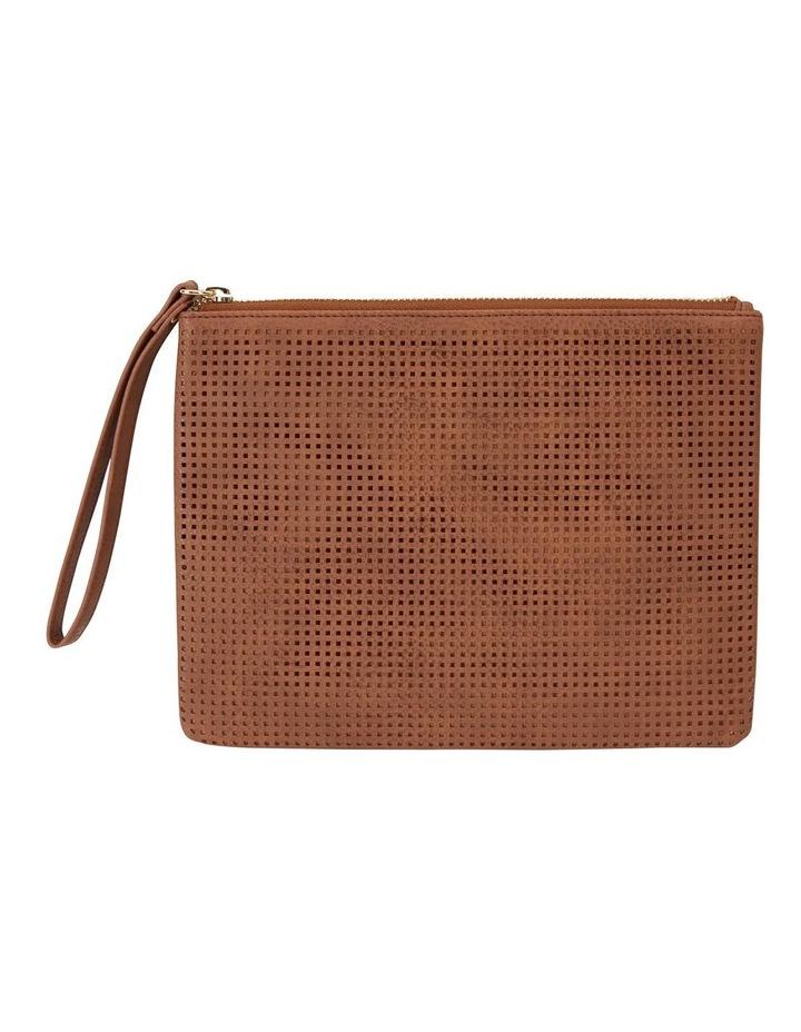 SANDLER Lauren Cognac Clutch Bag image 1