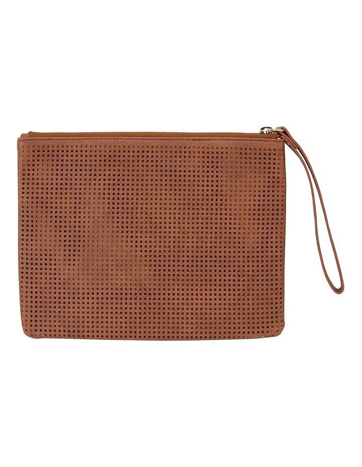 SANDLER Lauren Cognac Clutch Bag image 2