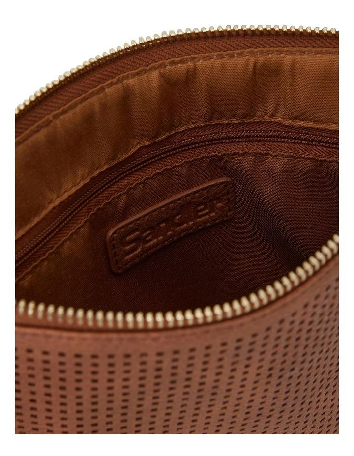 SANDLER Lauren Cognac Clutch Bag image 3
