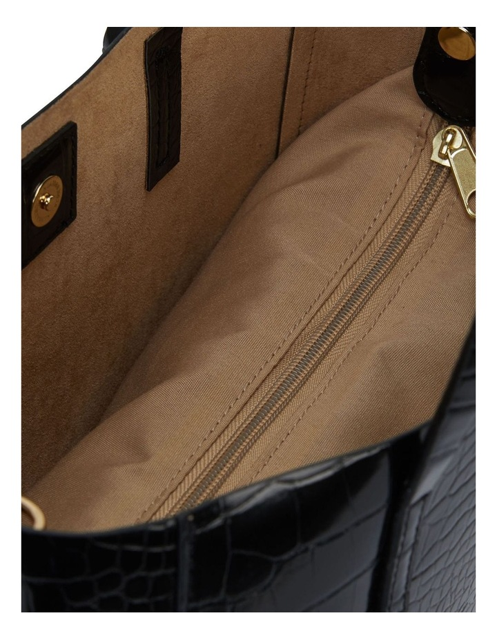 Sandler H-Billi Black Croc Handbag image 4